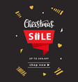 christmas sale banner template design vector image vector image
