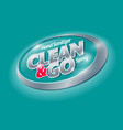 clean and go logo sanitizer spray antiseptic vector image vector image