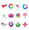 colorful collection corporate identity elements vector image