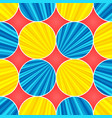 comic colorful explosive circles composition vector image vector image