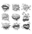 comic speech bubbles dynamic set vector image