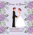 couple wedding card vector image vector image