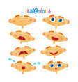 cute baby boy emotions set toddler face collection vector image
