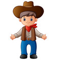 cute cartoon cowboy vector image