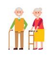 cute grandparents picture vector image vector image