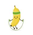 cute smiling happy strong banana vector image vector image