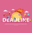 deadline flat composition vector image vector image