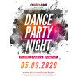 disco dance party flyer poster dj dance music vector image vector image