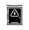 electrical box glyph icon vector image vector image