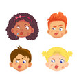 emotions a child face vector image vector image