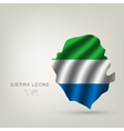 flag Sierra LEONE a country vector image