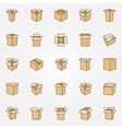 Flat cardboard icons vector image
