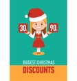 Giggest Christmas discounts holiday banner vector image