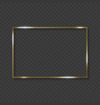 gold frame with shiny borders vector image vector image