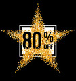 Golden star discount vector image vector image