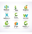 Green ecology alphabet vector