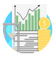 growth of financial capital icon vector image vector image