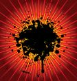 grunge explosion vector image vector image