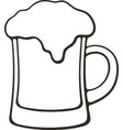 hand drawn doodle a mug beer with foam vector image