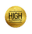 high quality shiny golden label luxury badge sig vector image vector image