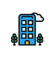 hotel icon on white background vector image vector image