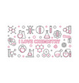 i love chemistry science concept outline vector image vector image
