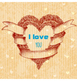 I love you typing over heart wreath Valentines Day vector image vector image