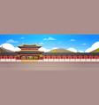 korea palace landscape south korean temple over vector image