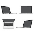 laptops with perspective top and front view vector image vector image