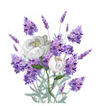 lavender and peony bouquet vector image vector image