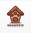 logo house pets simple cartoon style vector image