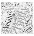 menopausal weight gain Word Cloud Concept vector image vector image