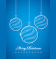 merry christmas balls glittering with stars vector image vector image
