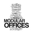 modular offices text background word cloud concept vector image vector image