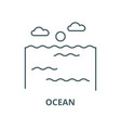 ocean line icon linear concept outline vector image