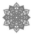 outline mandala flower vector image vector image