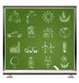 painted with chalk ecology and environment icons vector image vector image