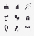 Party Icons and Celebration Icons with White vector image