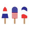 patriotic popsicles vector image