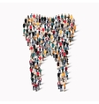 people shape tooth dental vector image vector image