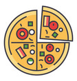 pizza pizzeria fast food concept line vector image