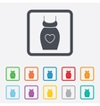 Pregnant woman dress sign icon Maternity symbol vector image vector image