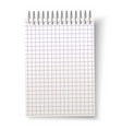realistic blank spiral notebook with square vector image