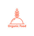 red dish like organic food logo vector image vector image