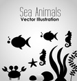 sea animals design vector image vector image