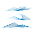 set abstract geometric dynamic sea wave vector image vector image