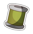 sewing threads isolated icon vector image