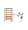smiling african american baker character in vector image vector image