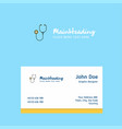 stethoscope logo design with business card vector image