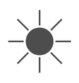 Sun icon black Symbol sunrise vector image vector image